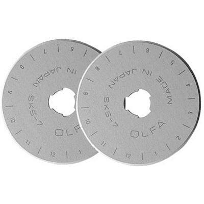 Olfa 45mm Replacement Rotary Blades 2pk
