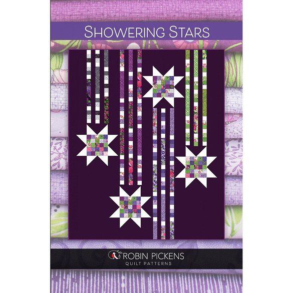 Showering Stars Twin Quilt Pattern, Robin Pickens
