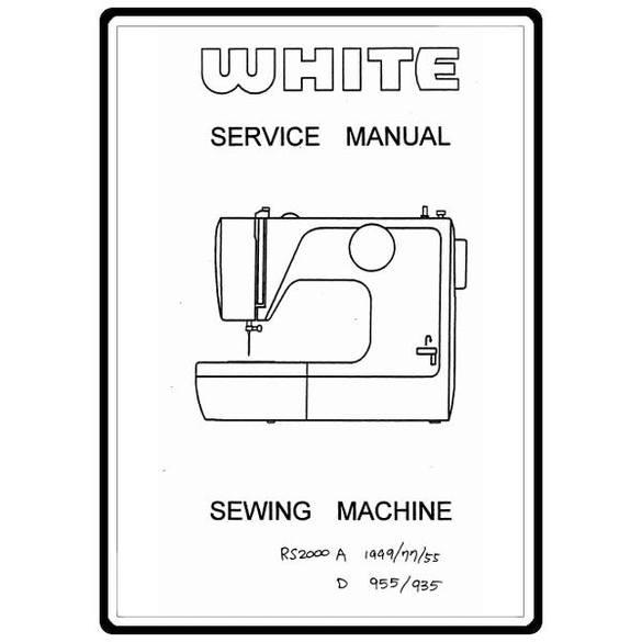 Service Manual, White RSA2000-A-1999