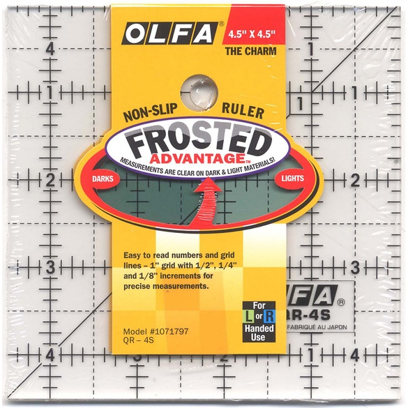 "Olfa Frosted Ruler, 4.5"" Square"