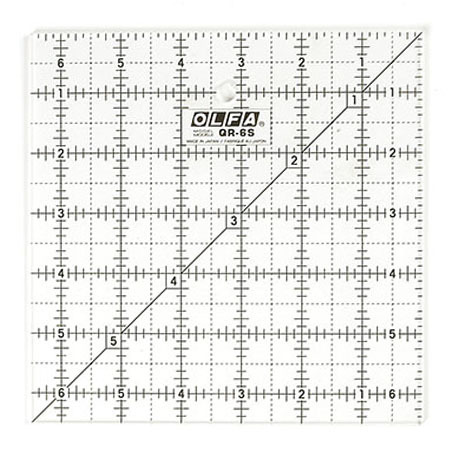 """Frosted Square Ruler (6.5""""x6.5""""), Olfa"""