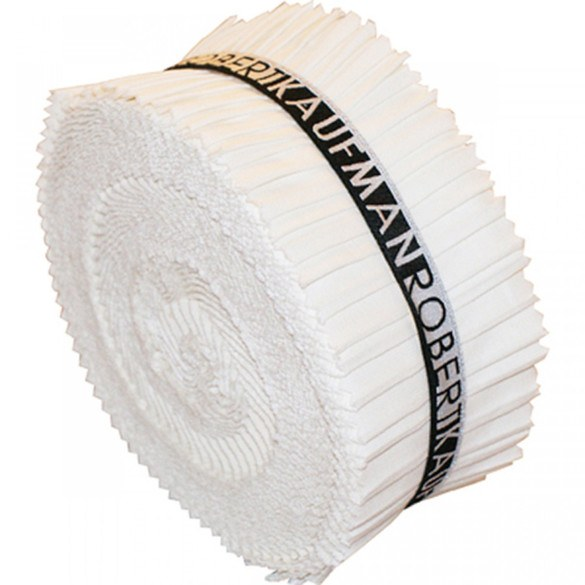 Robert Kaufman Fabric Roll (40 strips) - White