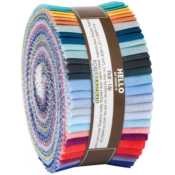 Robert Kaufman 40pc Ombré Fabric Roll - Sky