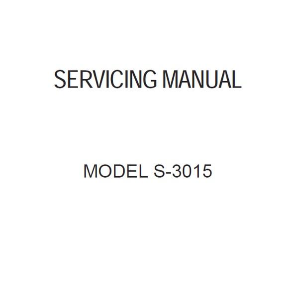 Service Manual, Janome S3015