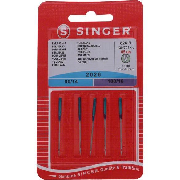 Denim Assorted Needles (5pk), Singer #S2026