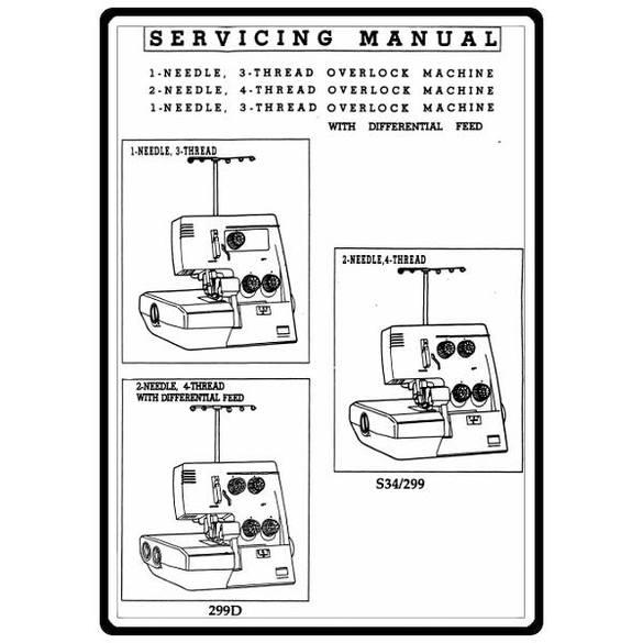 Service Manual, White S34D