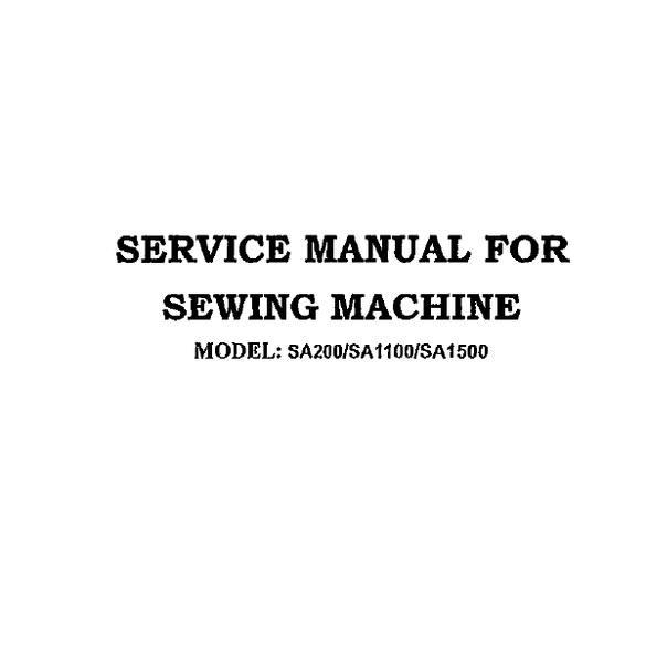 Service Manual, Simplicity SA1100