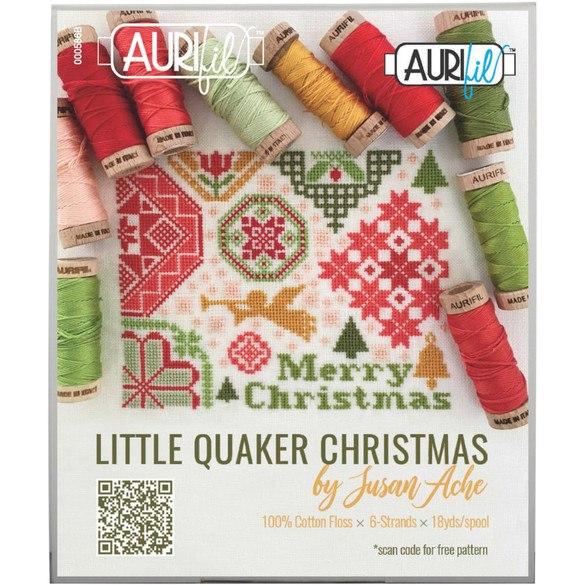 Aurifil, Little Quaker Christmas Floss Collection - 10 Spools (18yds)