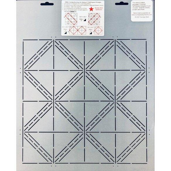 Half Square Triangle Stencil - 2in