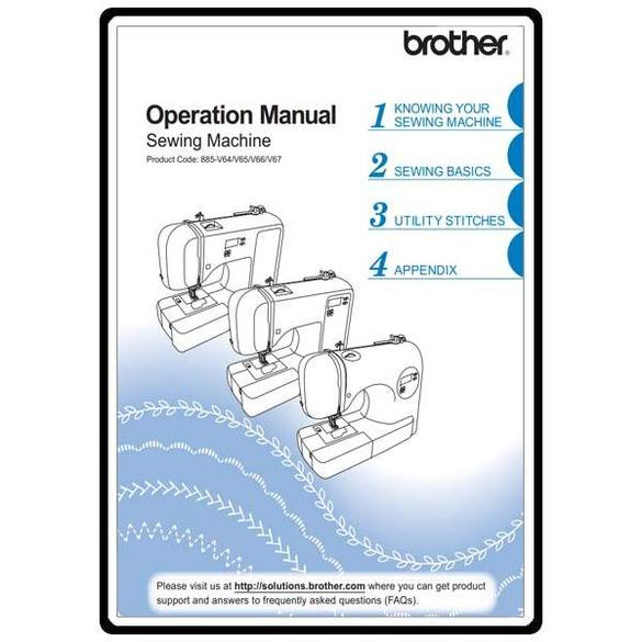 Instruction Manual, Brother SC9500