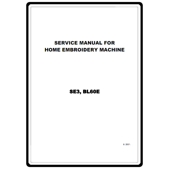 Service Manual, Brother SE3