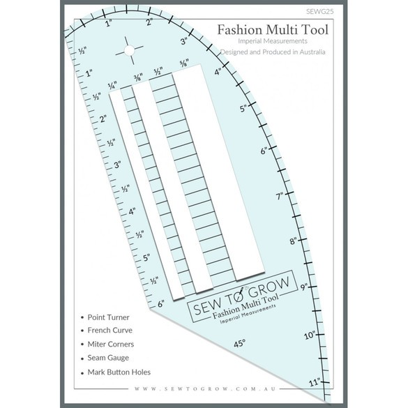 Sew To Grow Fashion Measuring Multi-Tool Ruler