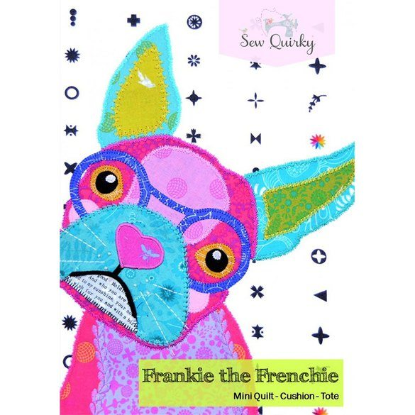 Sew Quirky, Frankie the Frenchie Block Pattern