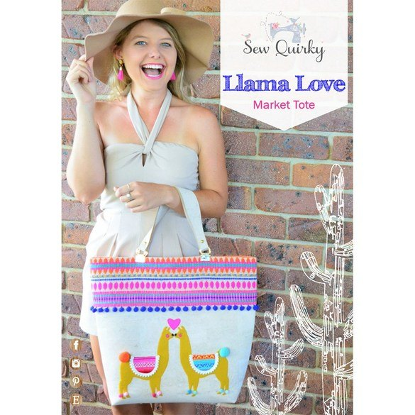 Sew Quirky, Llama Love Market Tote Pattern