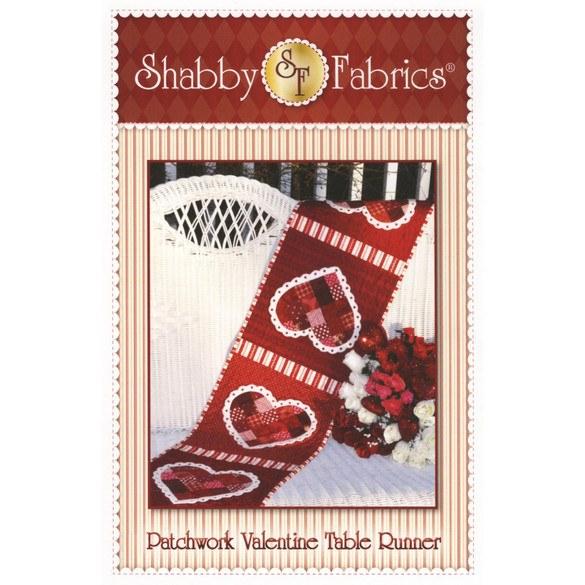 Patchwork Valentine Table Runner Pattern, Shabby Fabrics