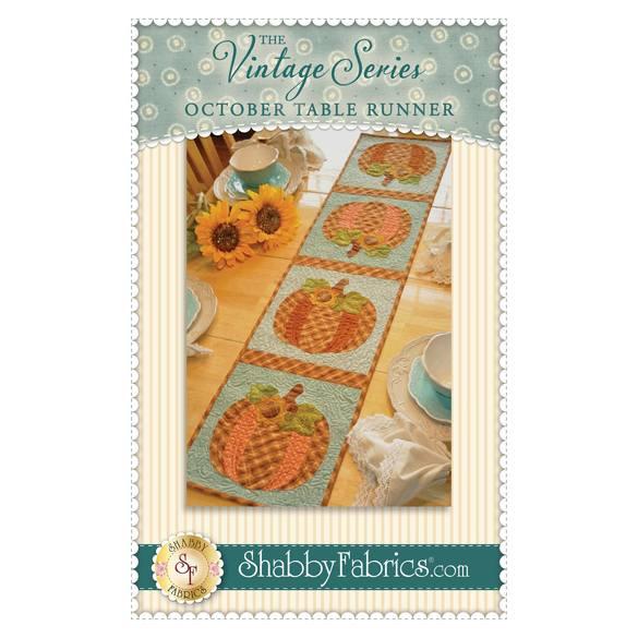 Vintage Blessings Table Runner Pattern, October