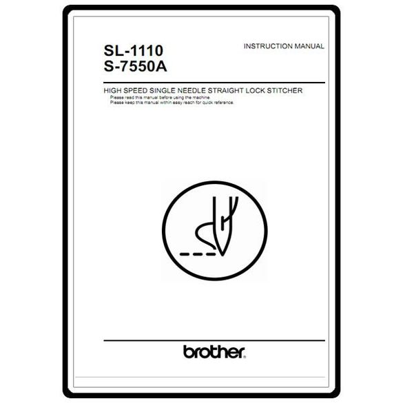 Instruction Manual, Brother S-7550A