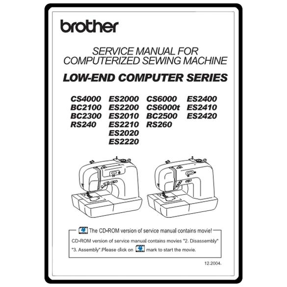 Service Manual, Brother ES2000