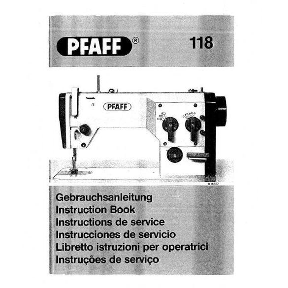 Service Manual, Pfaff 118