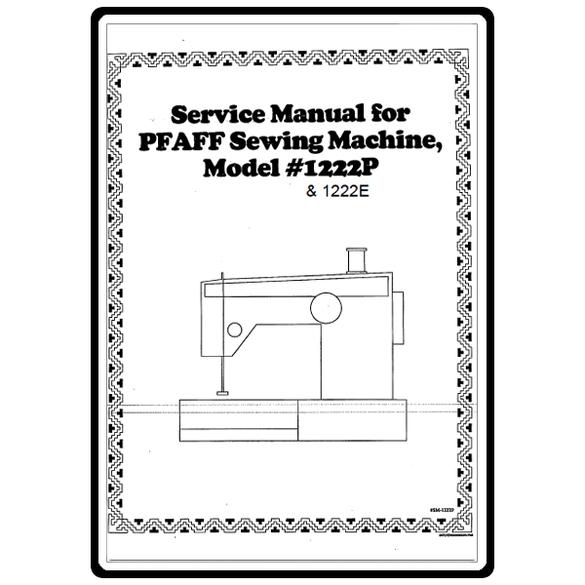 Service Manual, Pfaff 1222E