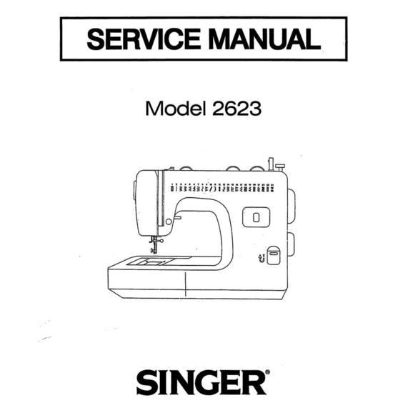 Service Manual, Singer 2623