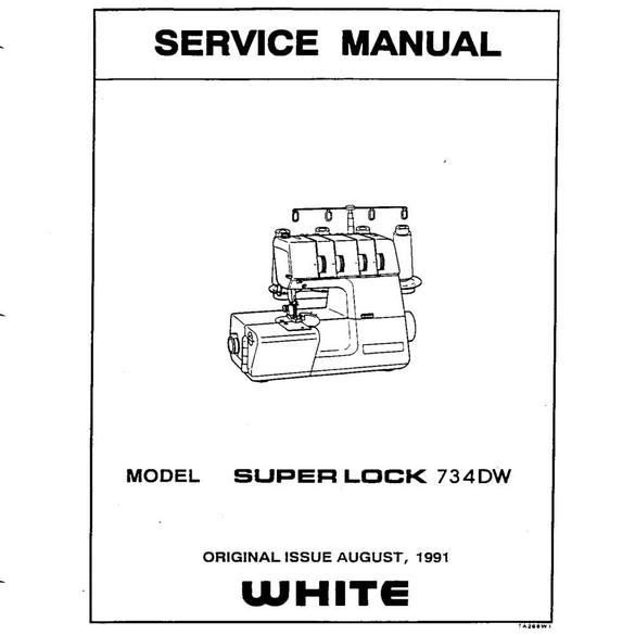 Service Manual, White 734DW