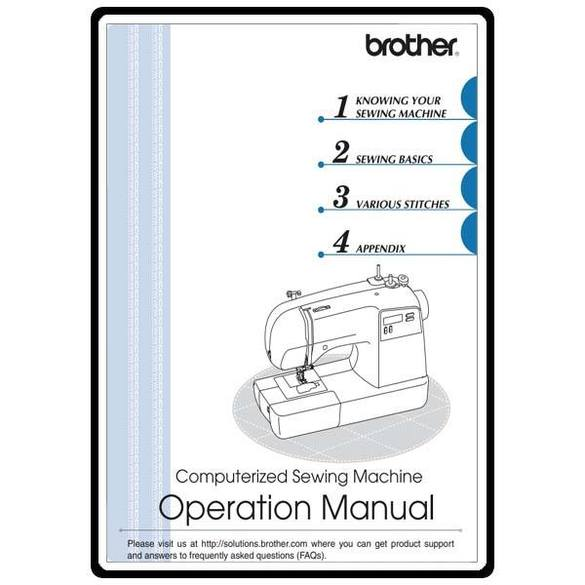 Instruction Manual, Brother SQ9050
