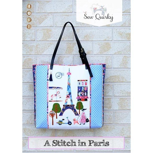 Sew Quirky, A Stitch in Paris Bag Pattern