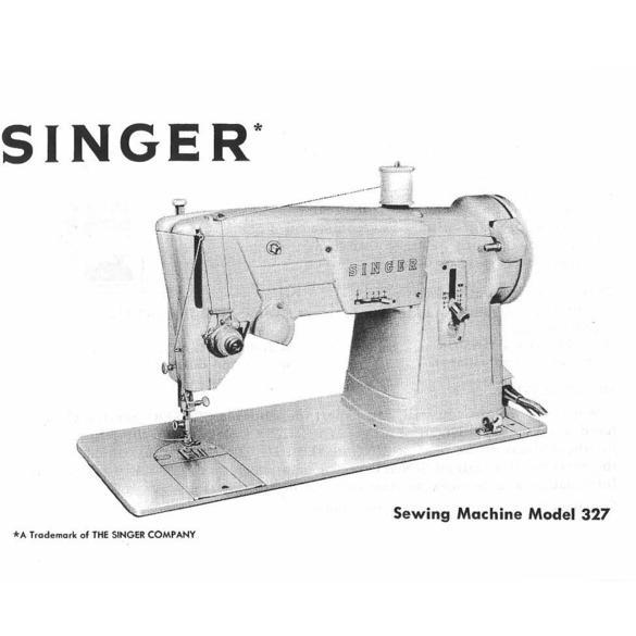Instruction Manual, Singer 327