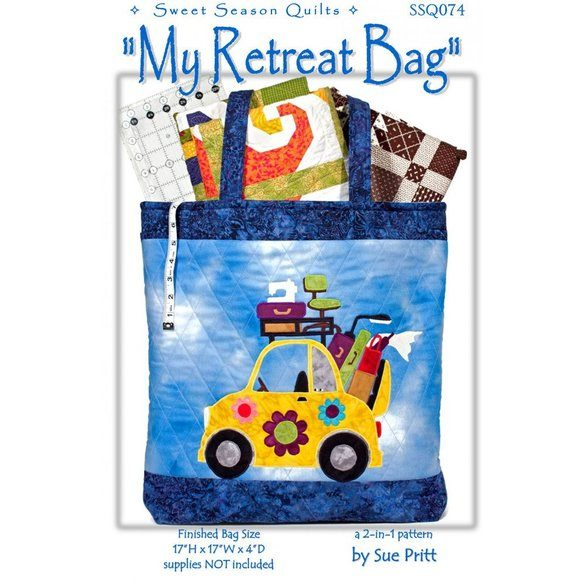 My Retreat Tote Bag Pattern and Wall Hanging Pattern