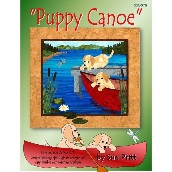 Puppy Canoe Mini Quilt Pattern