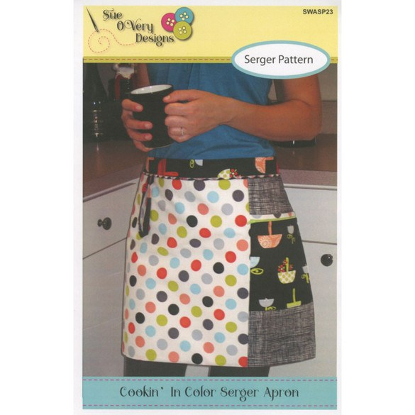 Cookin' In Color Serger Apron Pattern