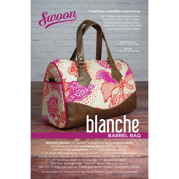 Swoon, Blanche Barrel Bag Pattern