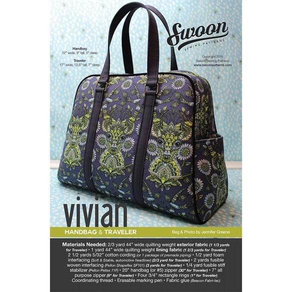 Swoon, Vivian Handbag & Traveler Pattern