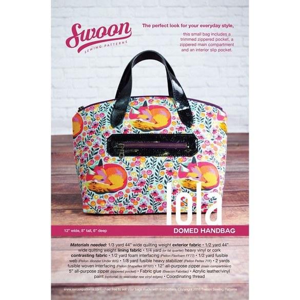 Swoon, Lola Domed Handbag Pattern