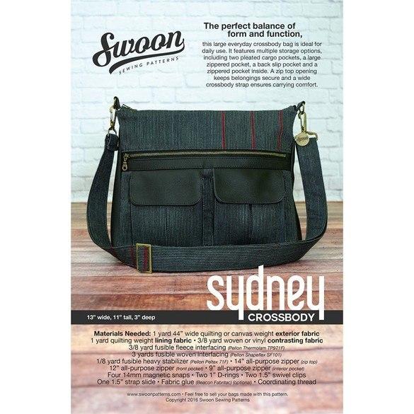Swoon, Sydney Crossbody Bag Pattern