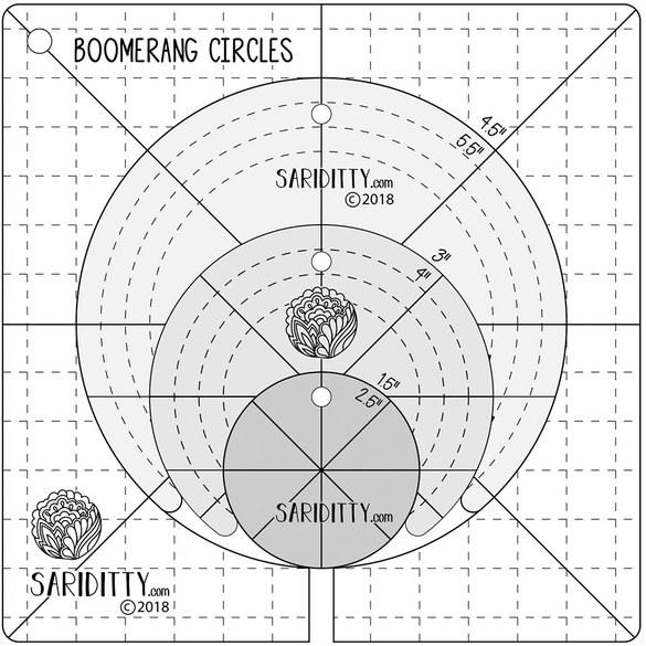 Sariditty, 4pc Boomerang and Circles Set