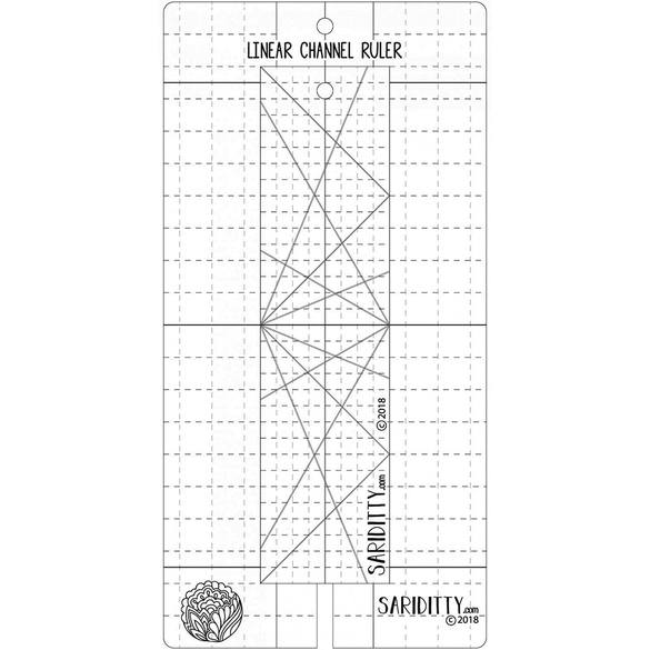 Sariditty, 2pc Linear Channel Ruler Set