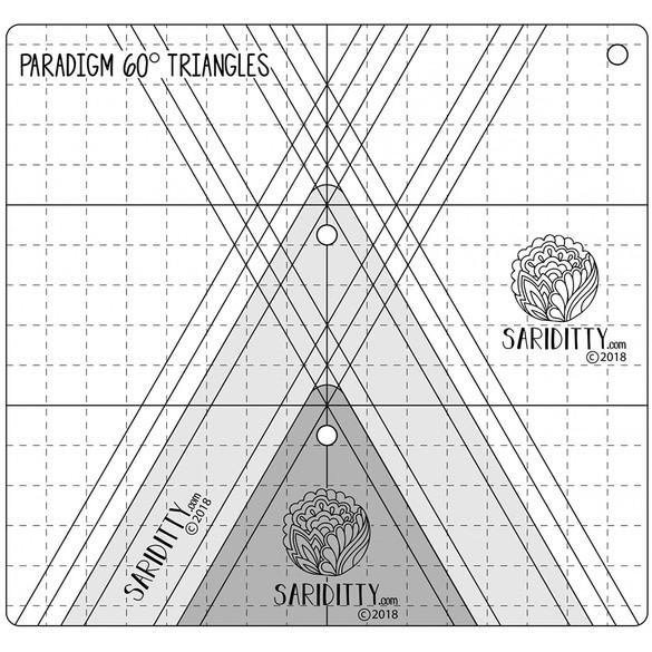 Sariditty, 3pc Paradigm 60° Triangle Ruler Set