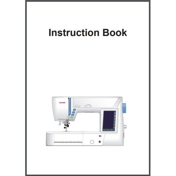 Instruction Manual, Janome Skyline S9
