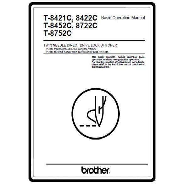 Instruction Manual, Brother T-8422C