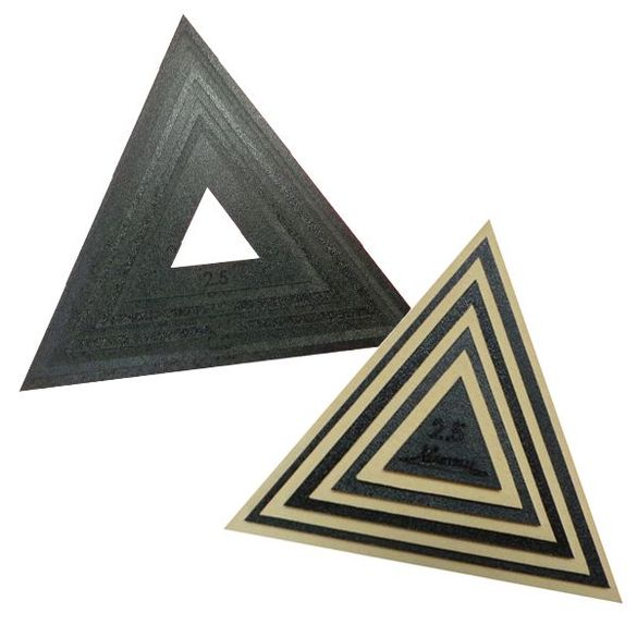 Square Triangle Ruler and Fussy Cut Window Set (2-1/2in - 9-1/2in)