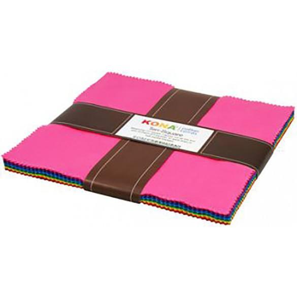 "Robert Kaufman, Kona Solids 10"" Fabric Squares (42pc)"