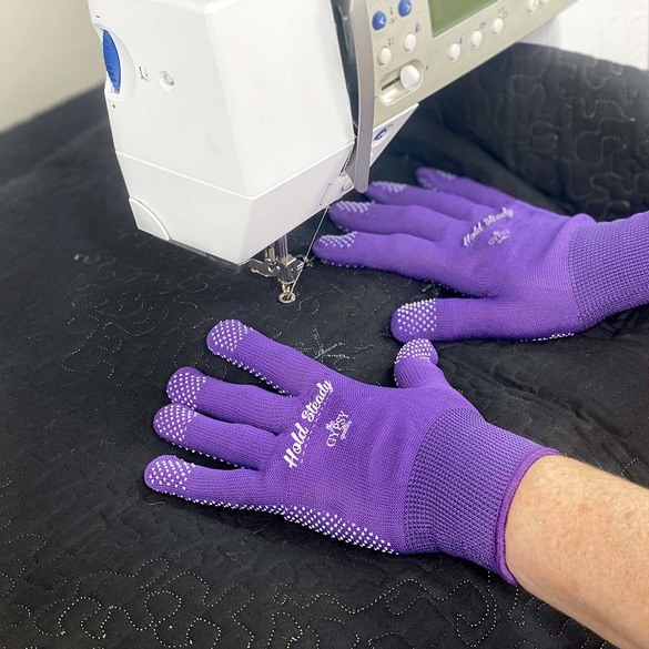 Gypsy Quilter, Hold Steady Machine Quilting Gloves