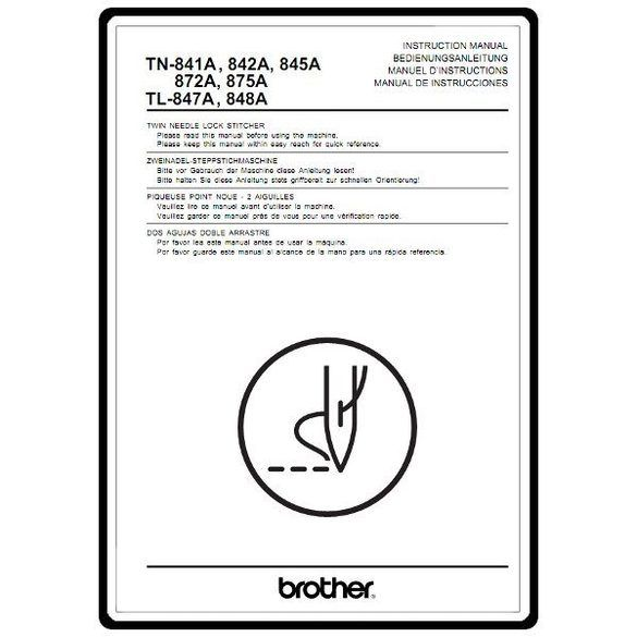 Instruction Manual, Brother TL-847A