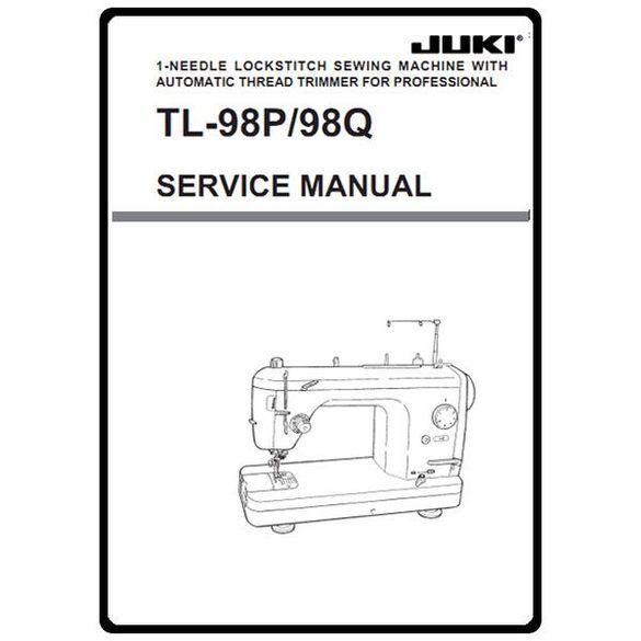 Service Manual, Juki TL-98P
