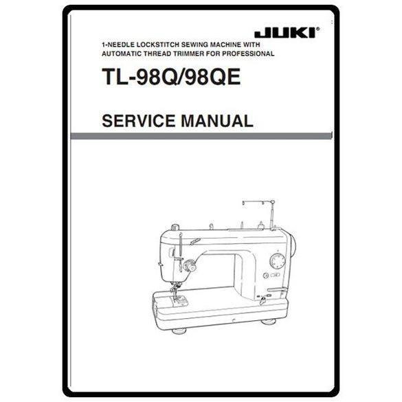 Service Manual, Juki TL-98QE