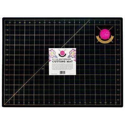 Tula Pink Cutting Mat - Black and Gold