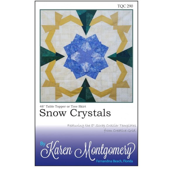 Snow Crystals Table Topper or Tree Skirt Pattern