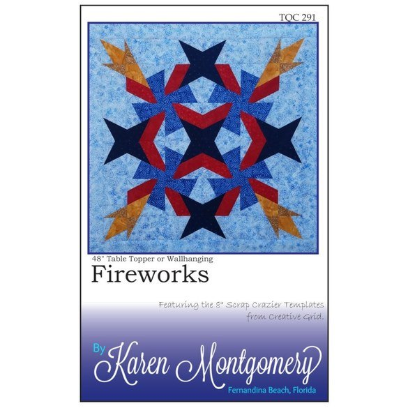 Fireworks Table Topper or Wall Hanging Pattern